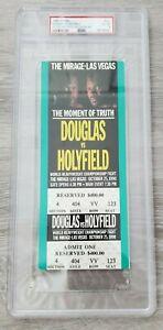 1990 BUSTER DOUGLAS vs EVANDER HOLYFIELD, PSA GRADED BOXING CHAMPIONSHIP TICKET