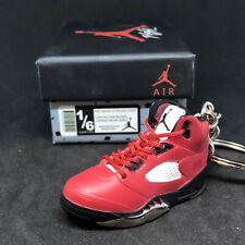 Air Jordan V 5 Retro Raging Bull Toro Red Og Sneaker Shoe 3D Keychain Figure+Box