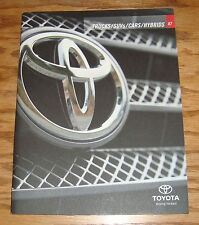 Original 2007 Toyota Car & Truck Full Line Sales Brochure 07 Land Cruiser Camry