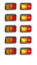 TRAILER SIDE MARKER 10 X LAMPS RED/AMBER MULTI VOLT 58 SERIES LED AUTOLAMPS