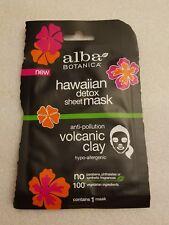 (4 packs)Alba Botanica Hawaiian Sheet Mask - Detox volcanic clay anti-pollution