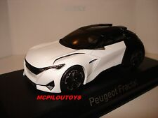 NEW NOREV PEUGEOT CONCEPT CAR FRACTAL VERSION COUPE FRANCFORT 2015 au 1/43°
