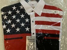 the westerns collection scully Mens Patriotic American flag NEW Shirt Size Small
