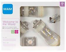 MAM wecome al mondo Set di 0+ mesi include bottiglie, Soother & Clip-Crema