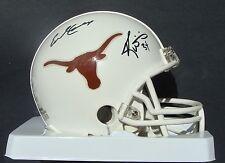 EARL CAMPBELL RICKY WILLIAMS signed Mini Helmet TEXAS Autographed JSA WP