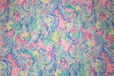 "Lilly Pulitzer Stretchy Rayon Border Fabric~Mermaid Cove~36""x 42"""