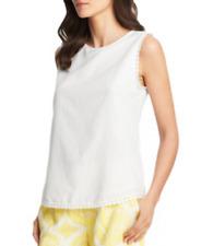 DVF $225 Jessa Top White Sleeveless Top 4 BEAUTIFUL DIANE VON FURSTENBERG