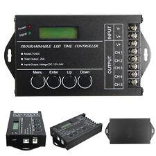 5 Channels DC12V-24V 20A Programmable TC420 RGB LED Time Dimmer Controller+CD