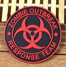 FD3285 Zombie Outbreak Response Team 3D Rubber Red Badge Tactical Morale