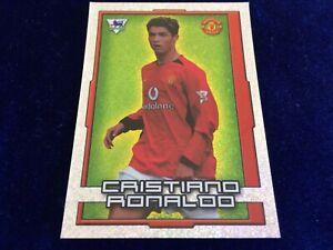 Merlin Cristiano Ronaldo 2004 Shiny Rookie Football Sticker #385 Pro recovered