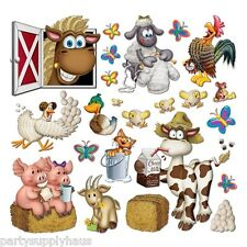 Barnyard FARM ANIMAL PROPS 40 Party Decorations