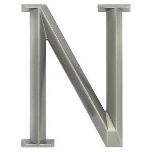 "WHITEHALL Door House Address Street Number Letter N Brushed Nickel 6"" 152mm 6 in"