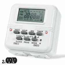 AstroAI Digital Timer Outlet 7-Day Programmable Dual Electrical Plug-In Switch,