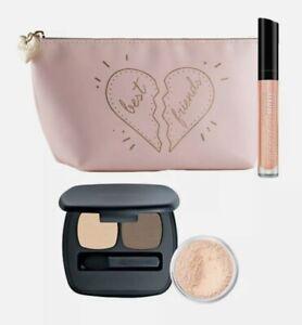 New bareMinerals I LOVE MY BEST FRIEND SET 2.0 Eyeshadow, Lipgloss, Veil + BAG!