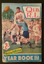 1959 QRL RUGBY LEAGUE YEAR BOOK  BY HARRY JEFFERIES