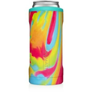 🔥Brumate Hopsulator Slim Insulated Can Cooler Tie-Dye White Claw NEW