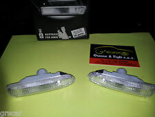 Freccia Frecce destra sinistra DX SX laterali Bianco BMW serie 3 E46 Side Marker