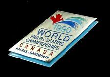 1990 World  Figure Skating Championships Halifax,Canada Official Badge Pin