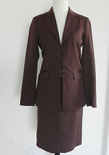 New Jessica Mcclintock Skirt Suit Brown Size 4 Polyester Blend