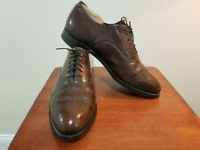Johnston Murphy Cap Toe Comfort Craft Brown Leather Dress Oxford Mens Size 8.5 D