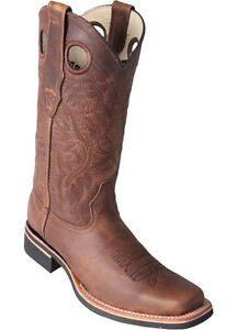 Los Altos HONEY 2 Square Toe Western Rodeo Cowboy Boots Genuine Leather EE