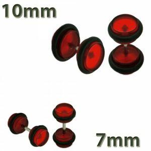 2 Fakeplugs Fake Plug Tunnel Piercing Studs Earring UV Neon