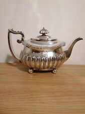 More details for superb georgian solid silver tea pot london c1816, 25, 1/8th ounces or 711 grams