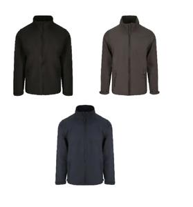Men Pro Two Layer Soft Shell Jacket Pro RTX Full Zip Long Sleeves Waterproof Top
