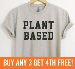 Plant Based Shirt Vegan Veganism Shirt Cute Vegan Lifestyle Tee Unisex XS-XXL