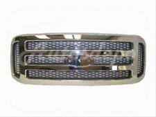 For Ford F250 F350 F450 F550 2005-2007 Grille Chrome -Gray Honeycomb Insert