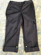 NEW Chico's Zenergy Vinny Chocolate Ronnie Roll Cuff Ankle Pant  Size 1 RTL $79