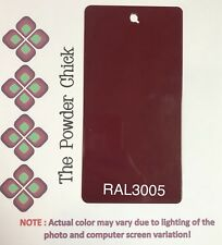 RAL 3005 49/31900 Wine Red Powder Coating Paint 1lb Bag NEW