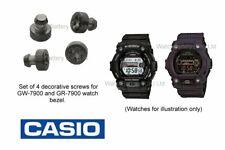 Genuine Casio Decorative Screw Set for GW-7900 & GR-7900 watch bezel. Qty 4