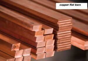 COPPER FLAT BAR/ROD - Many combinations of Thickness / Width - Numerous Lengths