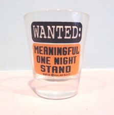 NOVELTY SHOT GLASS WITH  WANTED POSTER  IN BLACK PRINT !