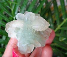 Green Apophyllite Crystals w/ Stilbite Minerals Specimen #A43