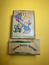 Note Worthy Easter Bunny Rubber Stamp Spring Balloon Peter Rabbit G