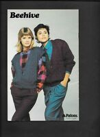 Beehive Patons Knitting Patterns Women Juniors Sweater Cardigan Dolman Vtg 80s