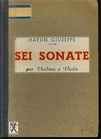 Josef Haydn ~ SEI SONATE ~ für Violine und Viola