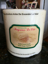 """Candle-Lite, 6"""" x 6"""" 3 Wick Large Pillar 5 Lb, Off White, Candle """"Vanilla"""" New"""