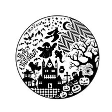 MoYou Special Halloween Stamping Art Image Plate 304, Nail Art Template, Stencil