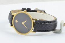 Movado Orologio da donna 34mm acciaio dorato Museo Watch RAR RAR