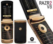Luxury Edition Motorola MOTORAZR2 V8 2GB Gold Unlocked Cellular Phone GSM