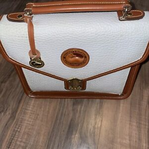 Dooney & Bourke All Weather Leather Handbag Purse White W/ Latch