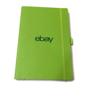 eBay Notebook Green Lined Pages 8.5 in x 6 in