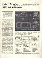 Peugeot 403B & 403C (Comfort) Motor Trader Service Data No 14/CSD 1964