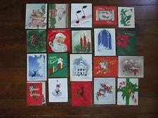 Vintage Christmas Cards Lot Santa Claus Deer Mailbox Little Girl Snowman Candy
