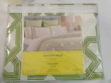 NIP  Jonathan Adler Twin Duvet Green 100% Cotton  400 Thread Count