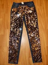 Neue AMY VERMONT Damen Jeans Große Strassdekoration Gr. 34 Blau NEU/OVP