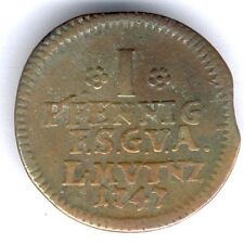 Sachsen Gotha Altenburg I Pfennig 1747 (Cu.) KM#283, ss - RARE